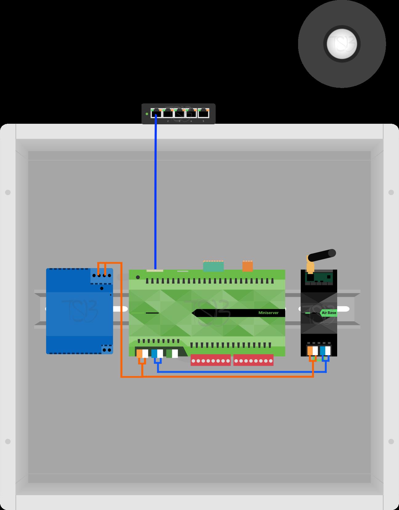 Installation Diagram of Loxone Motion Sensor Air Anthracite