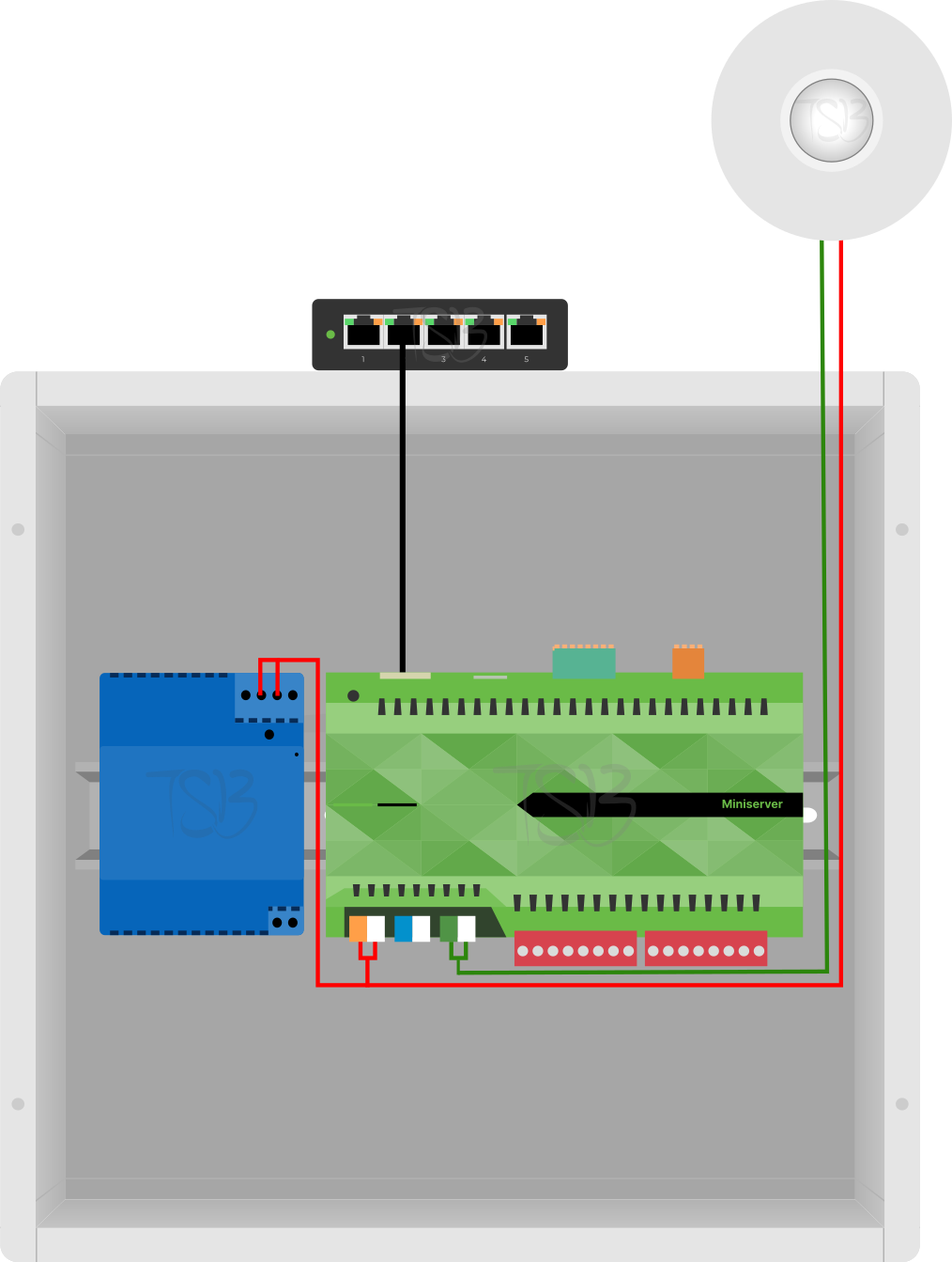 Installation Diagram of Loxone Motion Sensor Tree White